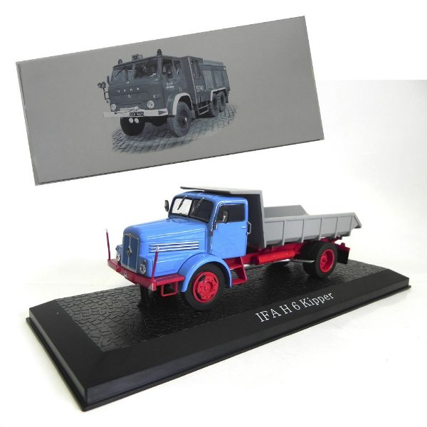 CAMINHÃO BASCULANTE 1952 IFA H6 KIPPER 1/43 ATLAS 7167115 AT7167115