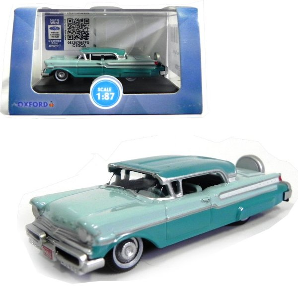 1957 MERCURY TURNPIKE TAHITIAN GREEN 1/87 OXFORD 87MT57004 OXF87MT57004
