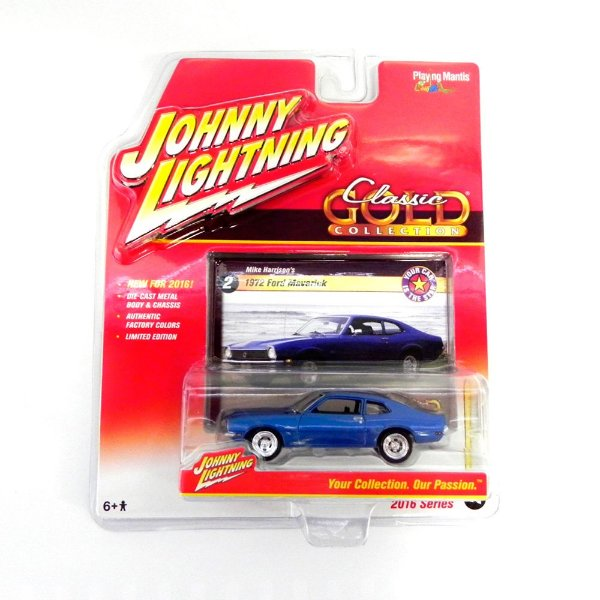 1972 FORD MAVERICK MIKE HARRISON´S 1/64 JOHNNY LIGHTNING CLASSIC GOLD RELEASE 1 JLCG001
