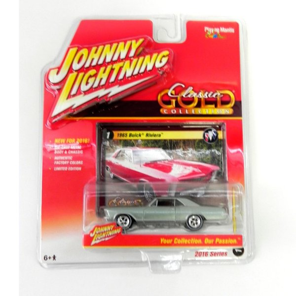 1965 BUICK RIVIERA 1/64 JOHNNY LIGHTNING CLASSIC GOLD RELEASE 1 JLCG001