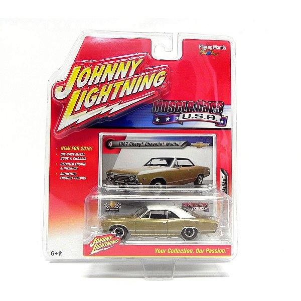 1967 CHEVROLET CHEVELLE MALIBU 1/64 JOHNNY LIGHTNING MUSCLE CARS USA RELEASE 1 JLMC001