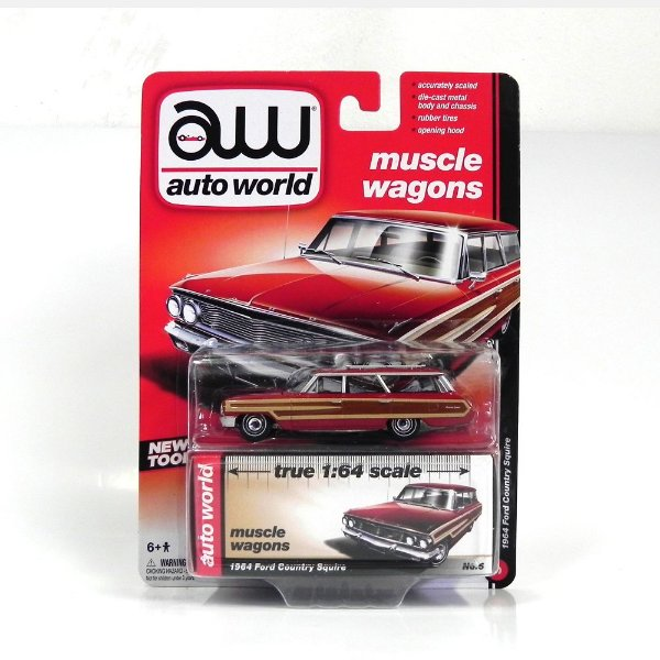 1964 Ford Country Squire 1/64 Auto World Aw64012