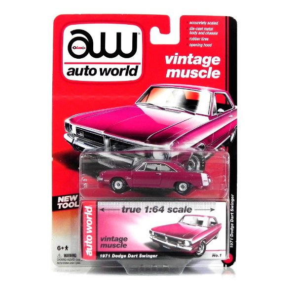 1971 Dodge Dart Swinger 1/64 Auto World Aw64002