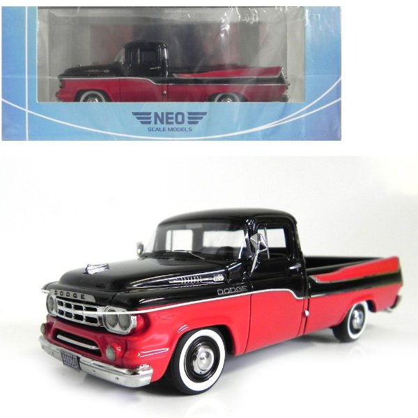 1959 Dodge D100 Sweptside Pick Up 1/43 Neo Scale Models 185608 Neo44842