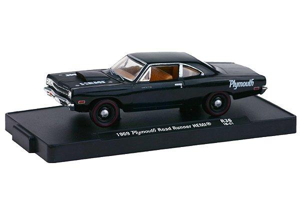 1968 Plymouth Road Runner Hemi 1/64 M2 Machines 11228 Release 36 Auto-Drivers M2M11228-36H