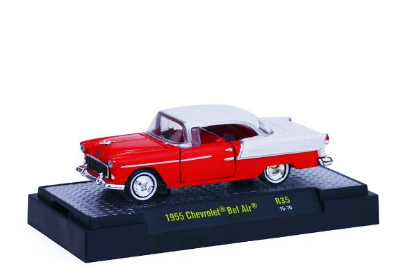 1955 Chevrolet Bel Air 1/64 M2 Machines 32500 Release 35 Auto-Thentics M2M32500-35H