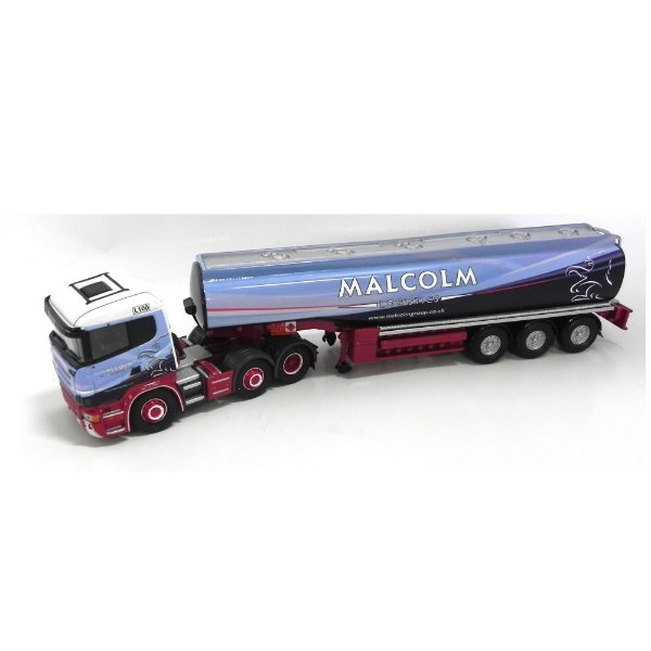 Caminhão Tanque Scania R Fuel Tanker Trailer W H Malcolm Ltd 1/50 Corgi Cc13762