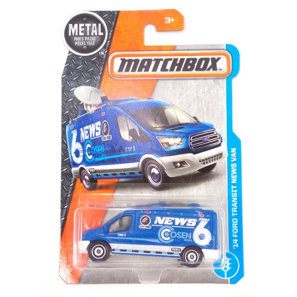 2014 Ford Transit News Van 1/64 Matchbox