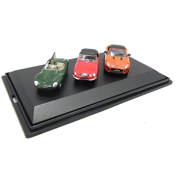 3 Piece Jaguar Set 1/76 Oxford