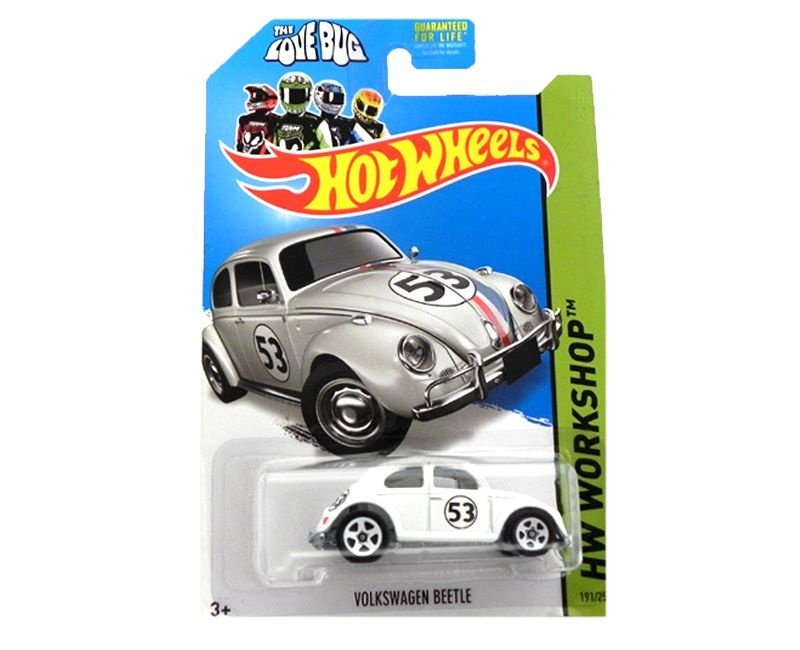HERBIE THE LOVE BUG SE MEU FUSCA FALASSE VOLKSWAGEN BEETLE 1/64 HOT WHEELS HW WORKSHOP BFD65-09B0C