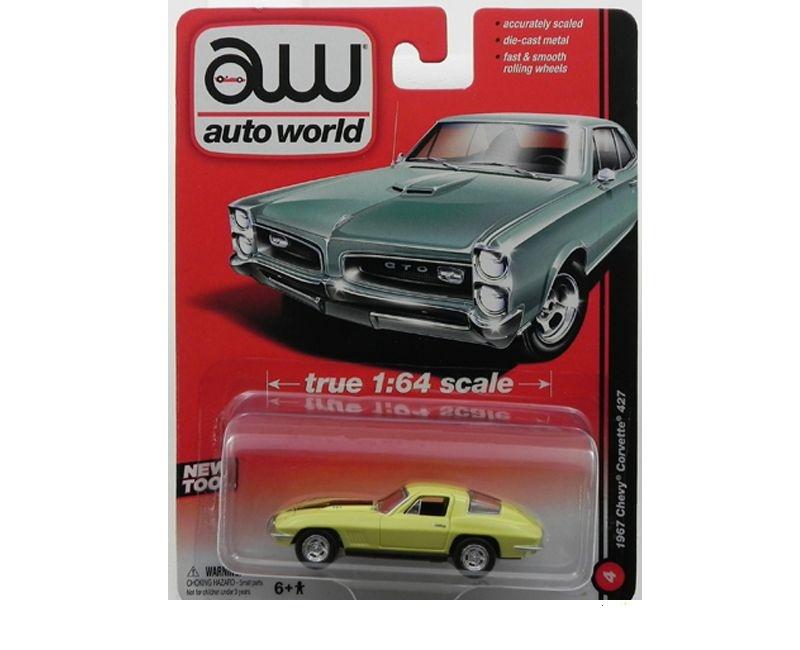 1967 Chevy Corvette C2 427 1/64 Auto World Aw64001B
