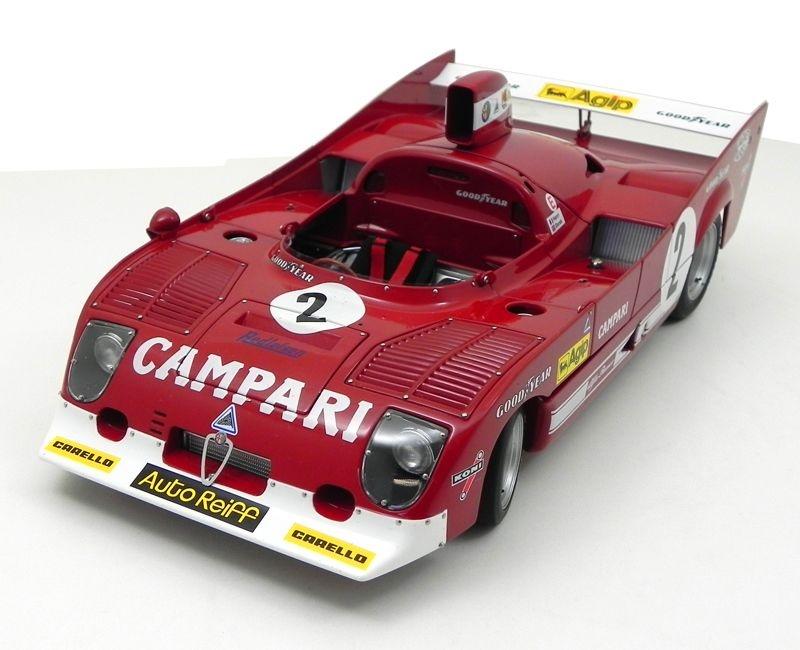 1975 ALFA ROMEO 33 TT 12 1000KM SPA FRANCORCHAMPS WINNER PESCAROLO/BELL #2 1/18 AUTO ART 87503