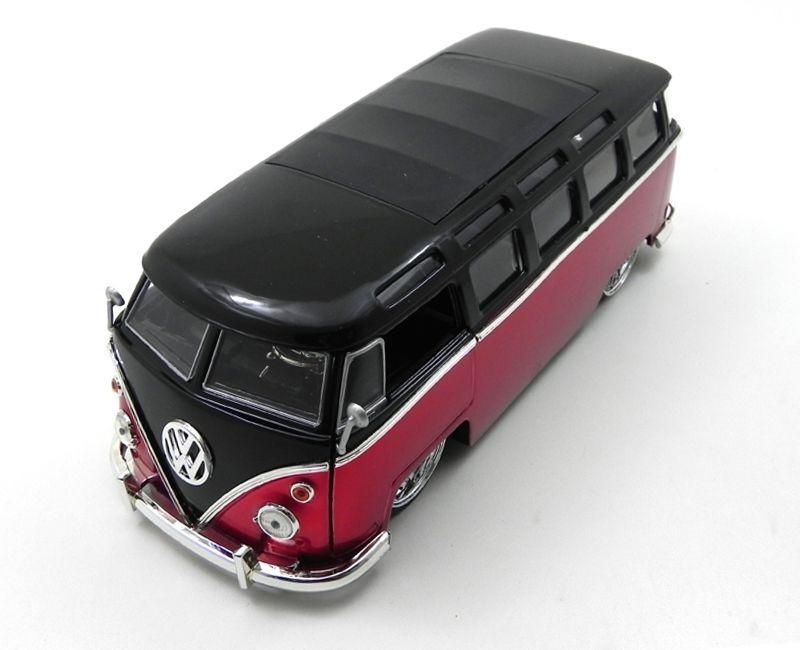 1962 Volkswagen Kombi Bus Van Vermelho 1/24 Jada Toys 91693