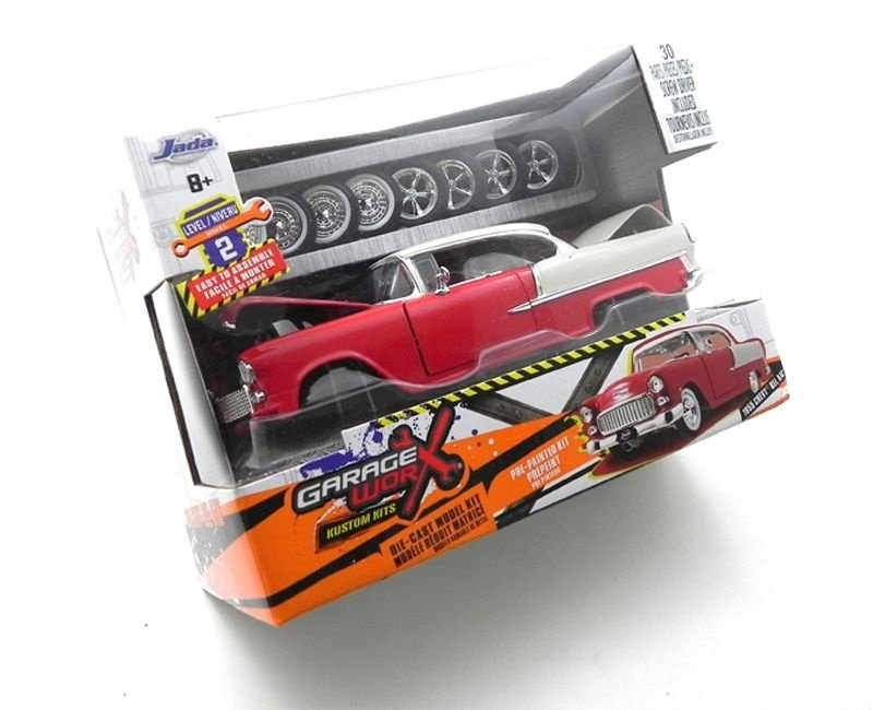1955 CHEVROLET BEL AIR KIT DE METAL PARA MONTAR  1/24 JADA TOYS 97057