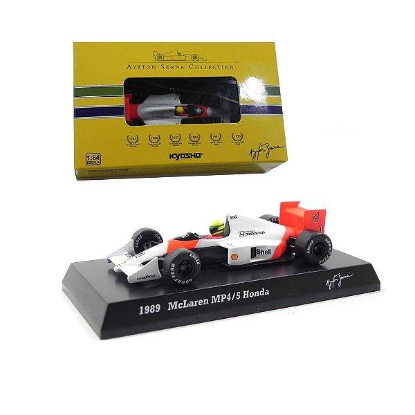 1989 Ayrton Senna Mclaren Mp4/5 Honda 1/64 Kyosho 96906