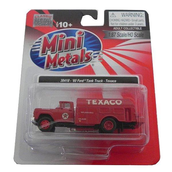 1960 Ford Tank Truck Texaco 1/87 Classic Metal Works 30418
