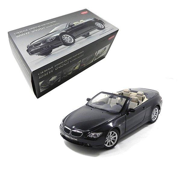 BMW 645CI CABRIOLET 1/18 KYOSHO 08702BK