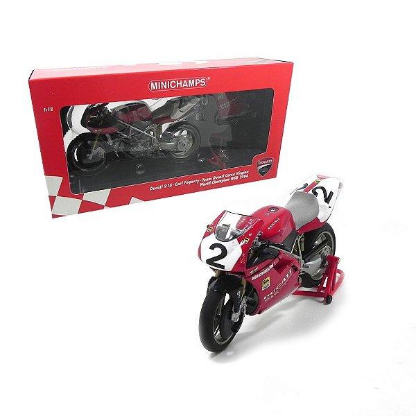 Ducati 916 Carl Fogarty Team Ducati Corse Virgino World Champion Wsb 1994 1/12 Minichamps 122941202