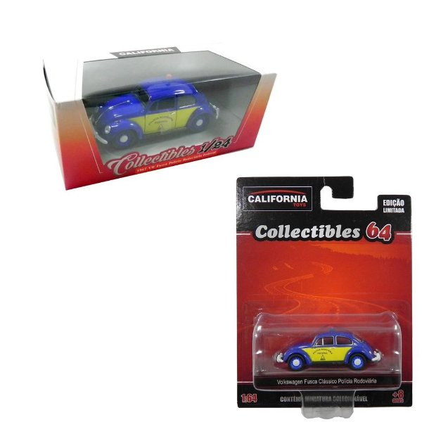 Kit Fusca Policia Rodoviaria California Collectibles