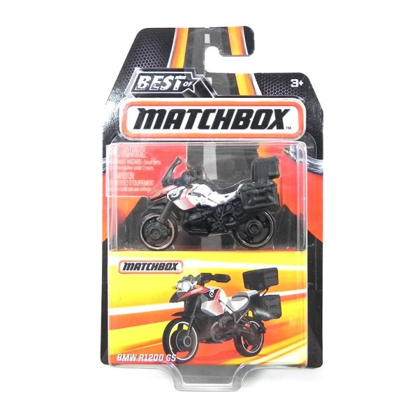 Moto Bmw R1200 Gs 1/64 Best Of Matchbox Dkc86-2B10