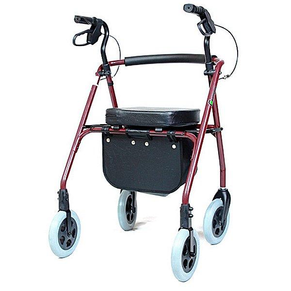 Andador 04 Rodas com Assento Almofadado SL512
