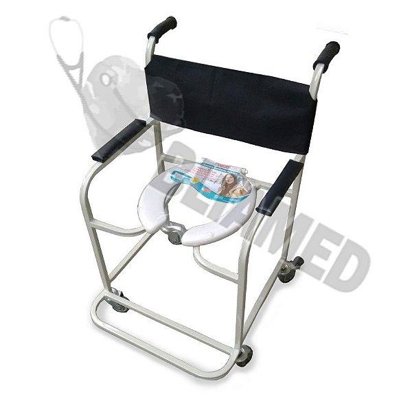 Cadeira de Banho Ferro Pintado - Obeso (até 120kg) Mod. Bliamed