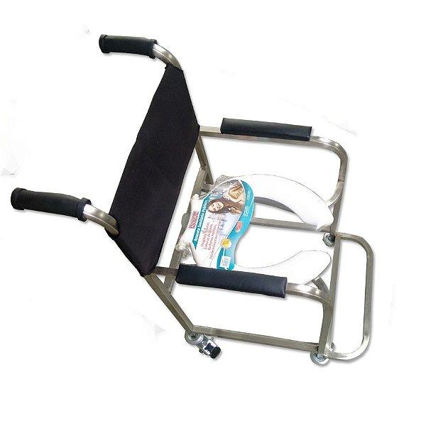 Aluguel Cadeira de Banho Aço Inox - Modelo Bliamed