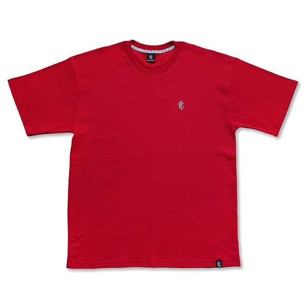 Camiseta Algodão Egípcio Logo vermelha