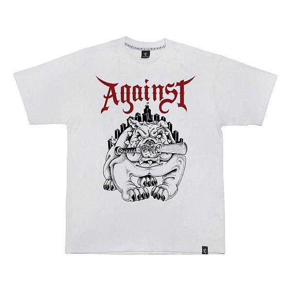 Camiseta AGAINST branca