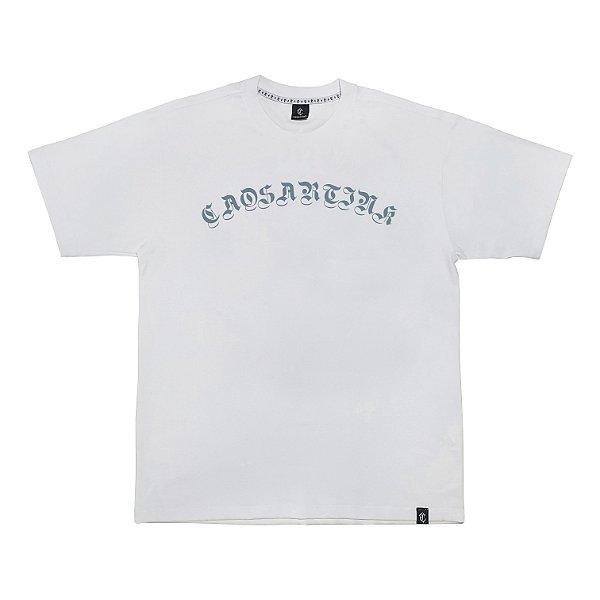 Camiseta ESCRITA GÓTICA branca