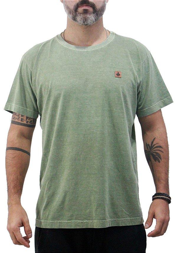 Camiseta Masculina Estonada Verde Kent