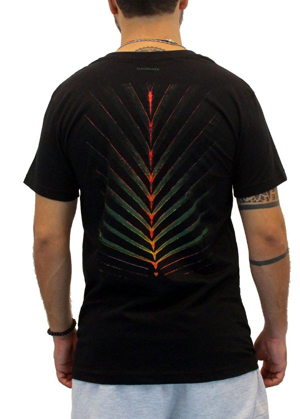 Camiseta Masculina Preto Spina