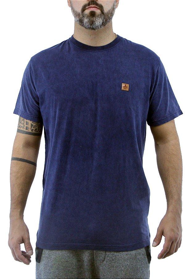 Camiseta Masculina Marmorizada Russian Azul
