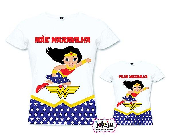 7171c099f3 Kit dia das Mães Mulher Maravilha - Joleju Camisetas e Presentes ...