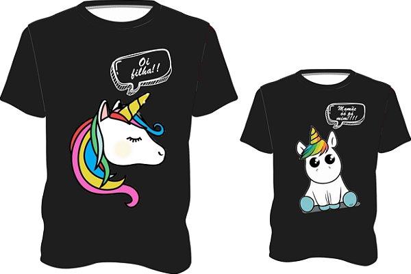 Unicornio Mãe e Filha - Joleju Camisetas e Presentes Personalizados 365c4a0293695