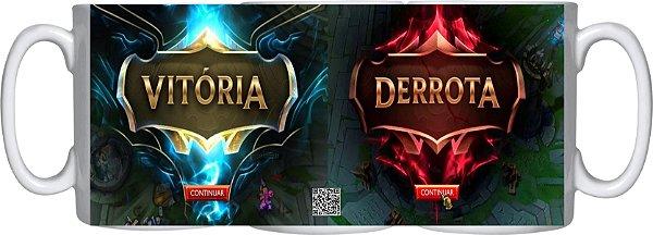 Caneca Cerâmica league of legends - VICTORIA - DERROTA