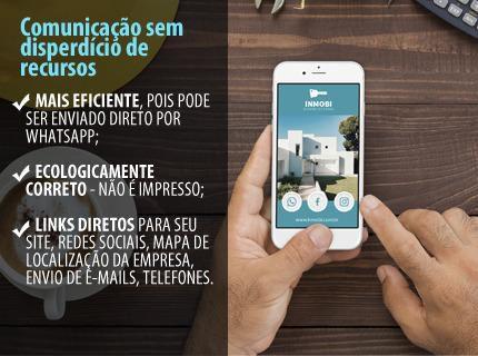 Cartões de visita virtuais com ícones clicáveis
