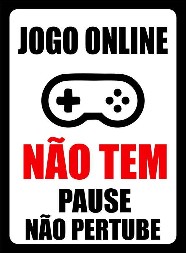 PLACA DECORATIVA JOGO ONLINE - PS 1mm 14x19cm