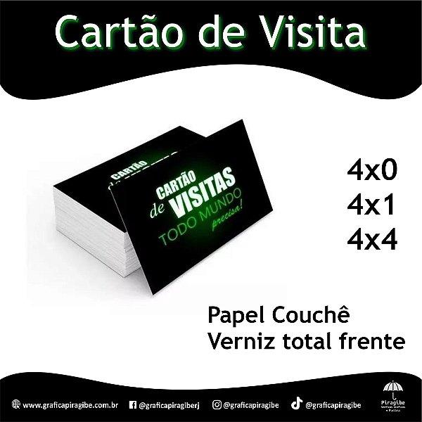 Cartão de Visita Papel Couchê 250gr.