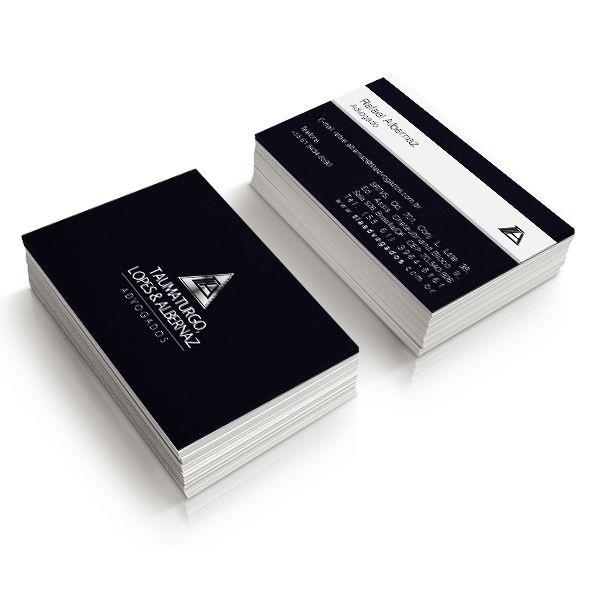 1000 Cartão de Visita papel Coucher 250gr. 4x4