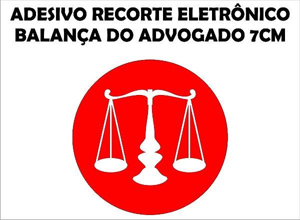 ADESIVO BALANÇA DE ADVOGADO 7CM