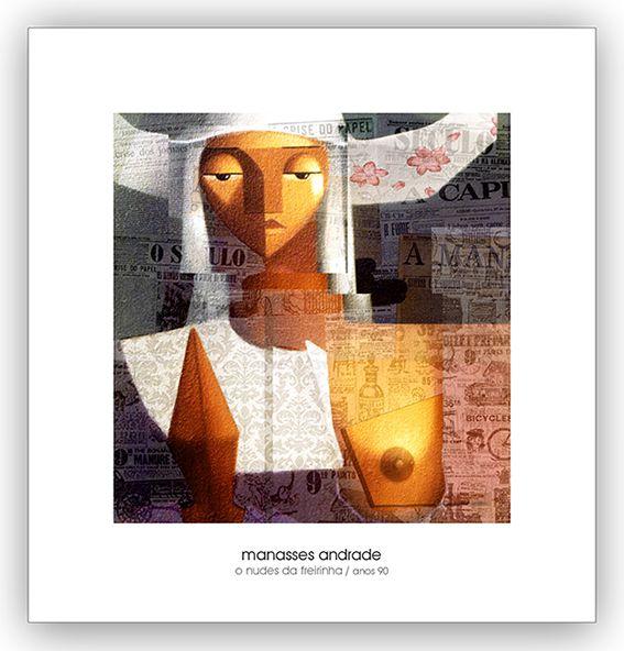 Coleção com  5  Reproduções Fine Arte em Papel  21 x 20 cm - Manasses Andrade