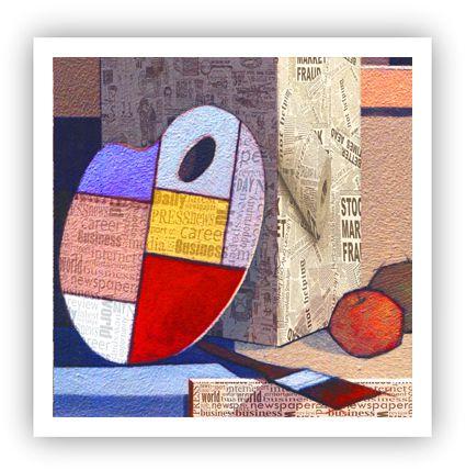 A mudança do atelier / Fine Art em Tela sem moldura - Manasses Andrade