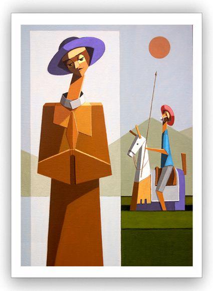 Francisco e quixote / Fine Art em Tela sem moldura - Manasses Andrade