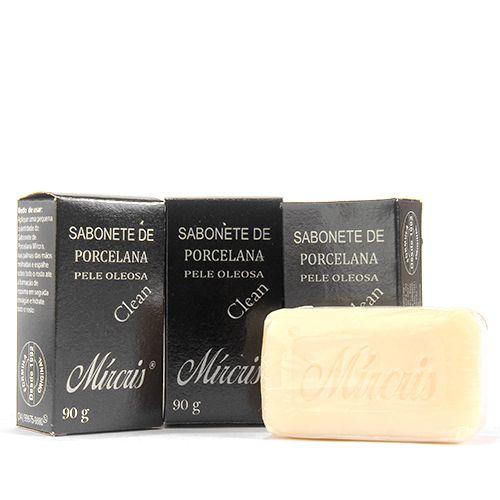 Sabonete de Porcelana Mírcris Clean - Anti-acne  - PELE OLEOSA 90g