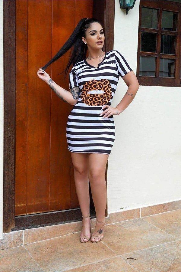 Vestido Listras M