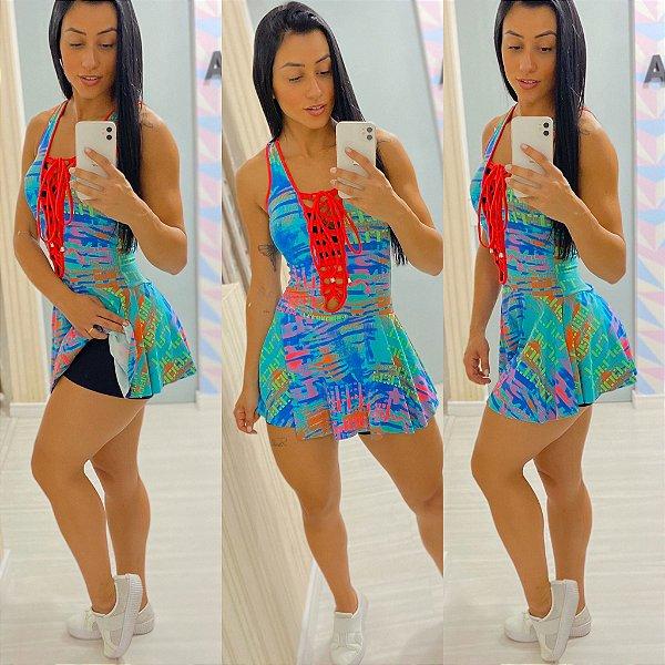 Vestido Shorts Saia