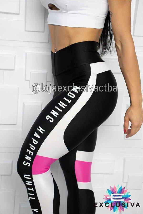Legging Bicolor Black White