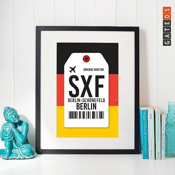 Pôster Aeroporto SXF - Schonefeld - Berlin, Alemanha