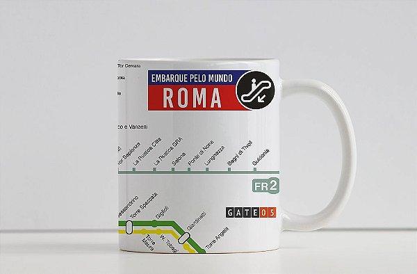 Caneca Coleção Embarque pelo Mundo - Metrô Roma